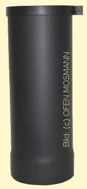 Ofenrohr Kaminofen DN 130 mm Anschluss-Stutzen 0,40 m Länge schwarz #310