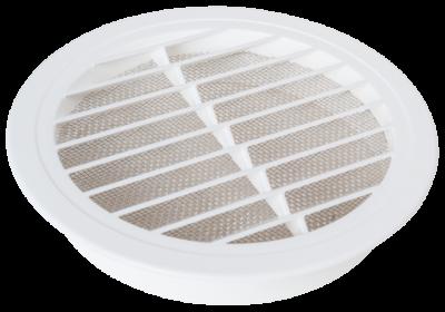 Luftgitter rund Kunststoff weiß DN 125 mm mit Insektenschutz