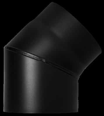 Ofenrohr Kaminofen DN 160 mm Bogen Winkel 45° ohne Tür schwarz #310