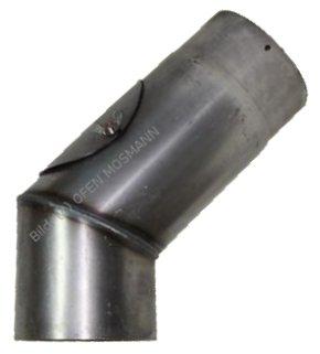 Ofenrohre DN 120 mm 2 mm Ofenrohr unlackiert Bogen 45° mit Tür