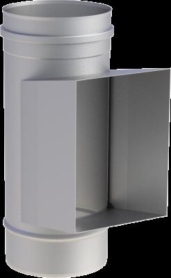 Edelstahlschornstein EW 200 mm x 0,6 mm Reinigungselement 210 x 140 mm mit Kasten
