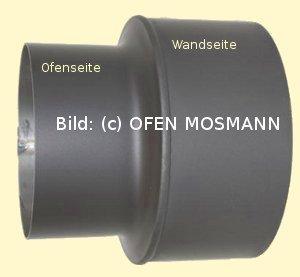 Ofenrohr Kaminofen Erweiterung von DN 150 auf 200 mm gussgrau #288