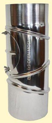Ofenrohr aus Edelstahl DN 150 mm Bogen 0 bis 90° verstellbar mit Tür
