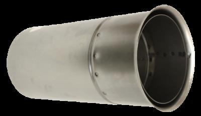 Doppelwandfutter für Ofenrohre mit 2 mm Wandstärke im DN 150 mm - 400 mm kürzbar