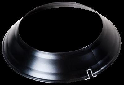Ofenrohr Wandrosette verstellbar von DN 100 bis 135 mm, schwarz
