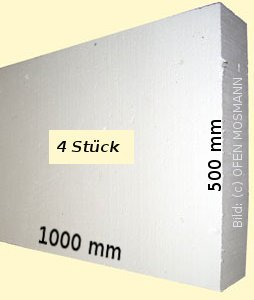 PROMASIL 950-KS 4 Stück Wärmedämmplatte Stärke 40 mm Fläche 2,0 m²