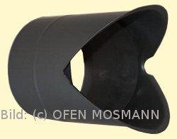 Eck-Doppelwandfutter für Ofenrohre mit 2 mm Wandstärke im DN 150 mm - Innenecke