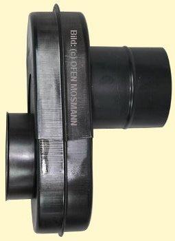 Flachknie gebläut DN 120 mm Nr. 23