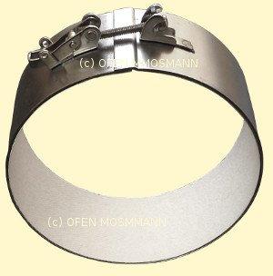 Ofenrohr DN 130 mm Verbindungs-Bride mit Isotherm-Einlage