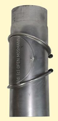 Ofenrohre DN 130 mm 2 mm Ofenrohr unlackiert Bogen verstellbar 0 - 90° mit Tür