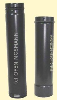 Ofenrohr für Pelletofen DN 100 mm verstellbar von 1,00 m bis 1,30 m grau emailliert