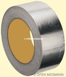 Aluminium Klebeband 50 mm Breite x 10 m Länge für Ofenrohrisolierung