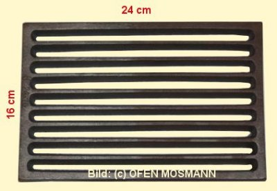 Ofenrost (Tafelrost) Breite 16 x Länge 24 cm
