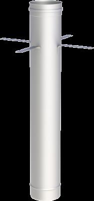 Edelstahlschornstein EW 180 mm x 0,6 mm Kaminrohr 1,00 m Länge mit Montageschelle