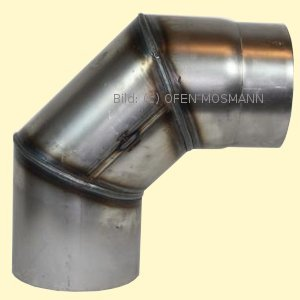 Ofenrohre 150 mm 2 mm Ofenrohr unlackiert Bogen 90° ohne Tür