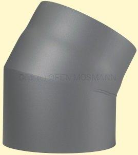 Doppelwandiges Ofenrohr Primus DN 130 mm Bogen 30° ohne Tür gussgrau #288