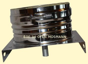 DW ECO 2.0 Edelstahlschornstein DN 150 mm Grundplatte mit Kondensatablauf unten