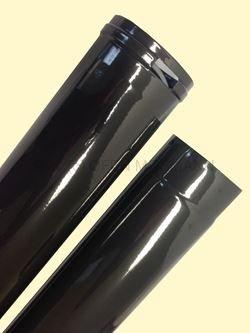 Ofenrohr DN 120 mm anthrazit emailliert Ofenrohr verstellbar von 0,50 m bis 0,80 m