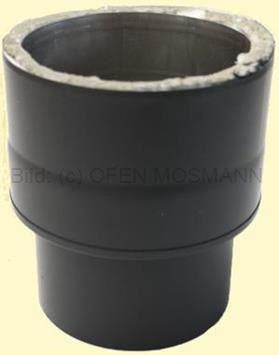 Doppelwandiges Ofenrohr Isoline DN 150 mm Übergang Ofenanschluss (ew-dw) schwarz #310