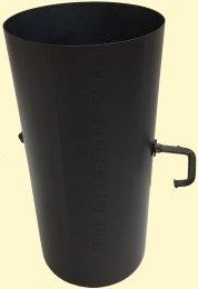 Ofenrohre DN 120 mm Senotherm Dünnwand 0,25 m Länge schwarz mit Drosselklappe