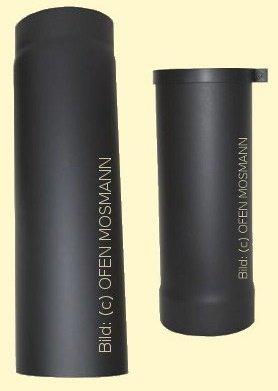 Ofenrohr Kaminofen DN 150 mm verstellbar von 0,50 bis 0,80 m schwarz #310