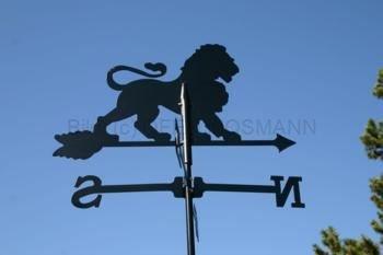 Wetterfahne Motiv Löwe Format: groß