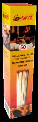 Zündhölzer für Ofen Kamin Grill. Grill- Kaminanzünder mit Reibekopf #1241, 20 cm lang