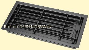 CB Deckengitter schwarz 35 cm x 15 cm Lamellen verstellbar. Lüftungsgitter für Ofen Kamin. Marke CB-