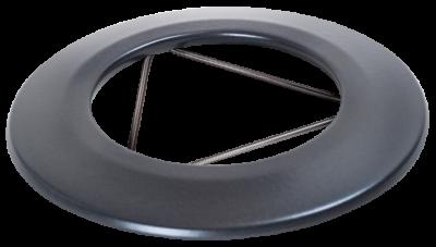 Ofenrohr für Pelletofen DN 125 mm Wandrosette grau emailliert