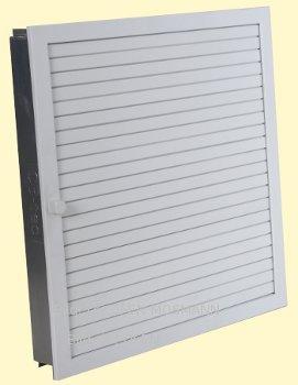 Revisionsgitter für Kamin Ofen Kachelofen weiß 45 cm x 45 cm Lamellen verstellbar Marke CB-tec