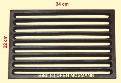 Ofenrost (Tafelrost) Breite 22 x Länge 34 cm