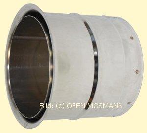 Edelstahl-Doppelwandfutter für Ofenrohre aus Edelstahl mit DN 180 mm