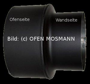Ofenrohr Kaminofen Reduzierung von DN 160 auf 150 mm schwarz #310