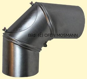 Ofenrohre DN 145 mm FAL Ofenrohr Bogen verstellbar 0 - 90° mit Tür