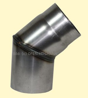 Ofenrohre DN 180 mm 2 mm Ofenrohr unlackiert Bogen 45° ohne Tür