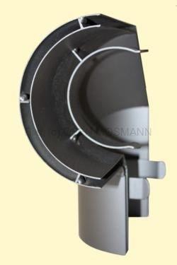 Ofenrohr Wärmeschutz Bogen 90° seitlich Senotherm DN 150 gussgrau #288
