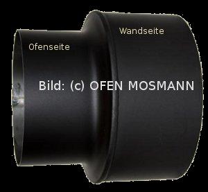 Ofenrohr Kaminofen Erweiterung von DN 150 auf 200 mm schwarz #310