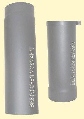 Ofenrohr Kaminofen DN 130 mm verstellbar von 0,50 bis 0,80 m gussgrau-hell #820