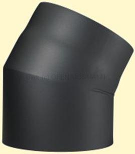 Doppelwandiges Ofenrohr Primus DN 180 mm Bogen 30° ohne Tür schwarz #310