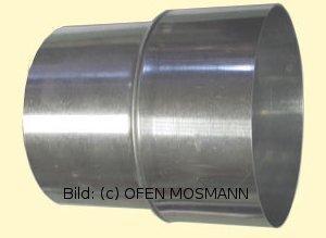 Ofenrohr Erweiterung FAL DN 80 mm weit - 130 mm eng