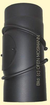 Ofenrohr Kaminofen DN 160 mm Bogen 0-90° mit Tür schwarz #310