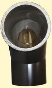 Doppelwandiges Ofenrohr Isoline DN 150 mm Bogen 90° ohne Tür schwarz #310