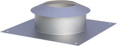 Edelstahlschornstein EW 150 mm x 0,6 mm Kopfabdeckung mit Wetterkragen