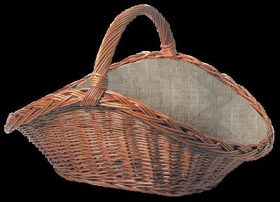 Weidenkorb oval mit Jute-Einlage und Tragegriff