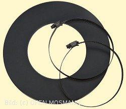 Wandrosette für isoliertes Aluflexrohr, DN 125 mm, schwarz beschichtet