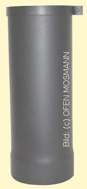 Ofenrohr Kaminofen DN 130 mm Anschluss-Stutzen 0,40 m Länge gussgrau hell #820