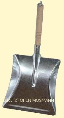 Kehrschaufel verzinkt mit Holzgriff Kappe und Ringöse