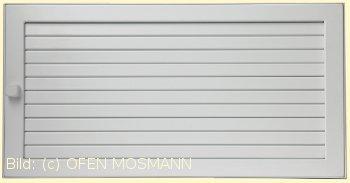 Lüftungsgitter Warmluft 35 x 15 cm weiß putzbündig Lamellen verstellbar Marke CB-tec