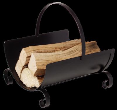 Stahl-Holzkorb schwarz