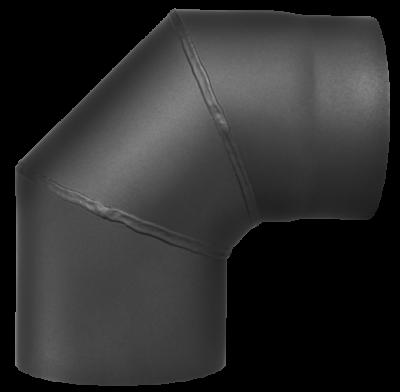 Ofenrohr Kaminofen DN 130 mm Bogen 90° ohne Tür gussgrau #288